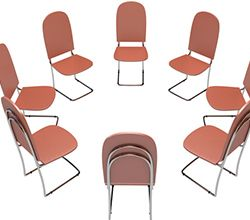 chairs together in a circle